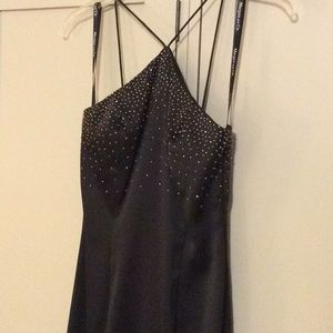 Morgan & Co black halter gown. Size 1/2